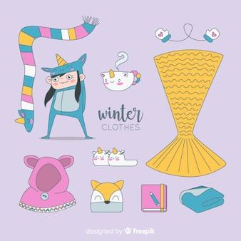 Ensemble vêtements et accessoires d'hiver