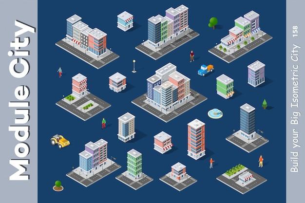 Un ensemble de ville isométrique