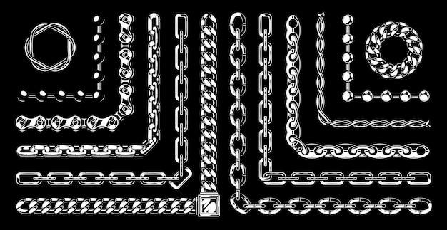 Ensemble vintage de chaînes