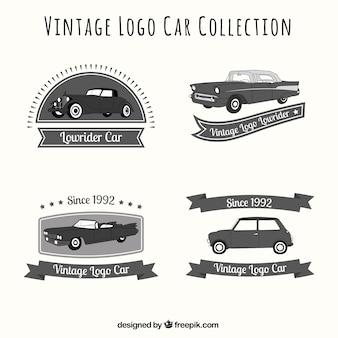 Ensemble vintage des logos de voiture