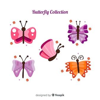Ensemble volant de papillons