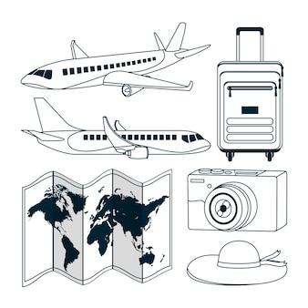 Ensemble de voyage et monde
