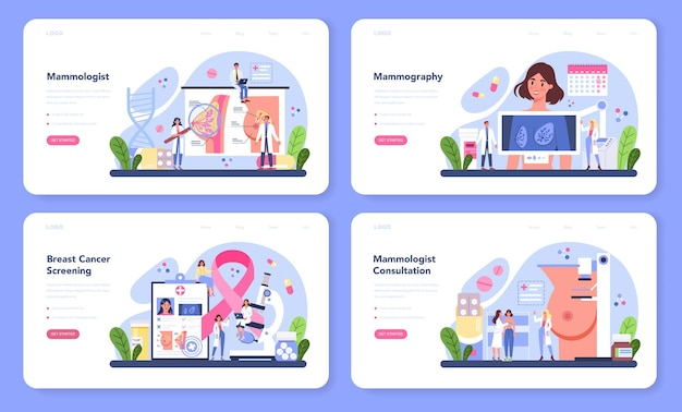 Ensemble web de bannière mammologue