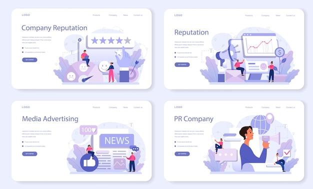 Ensemble web de bannière de réputation d'entreprise