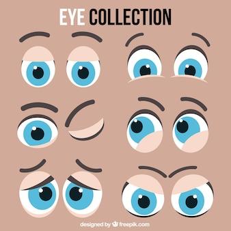 Ensemble de yeux expressifs