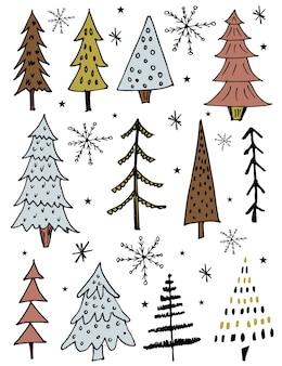 Ensembles de collections d'arbres de noël
