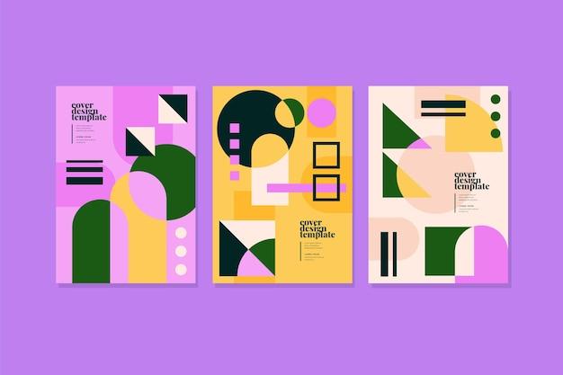 Ensembles de couvertures de formes abstraites colorées