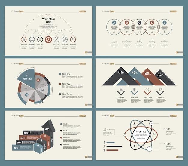 Ensembles de modèles de diapositives six finance