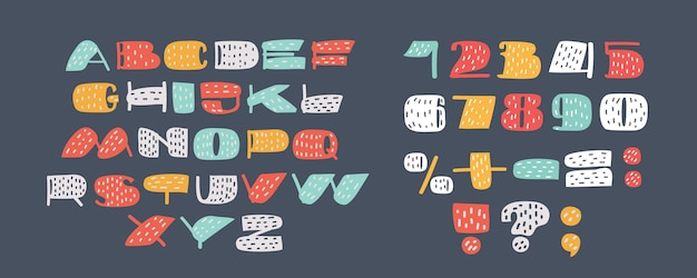 Ensembles de numéros de couleurs mignons