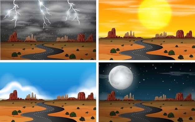 Ensembles de paysages de ciel différents
