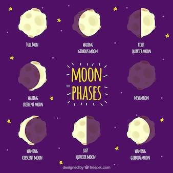 Ensembles des phases de la lune