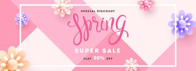 Entête de super vente de printemps
