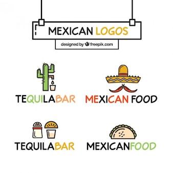 Enthousiaste mexicain restaurant alimentaire logos
