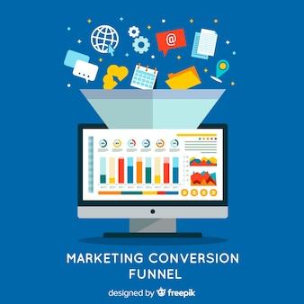 Entonnoir de conversion marketing