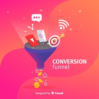 Entonnoir de conversion marketing
