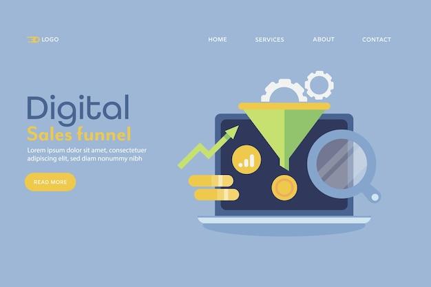 Entonnoir de vente numérique