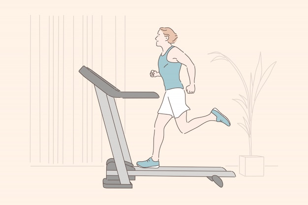 Entraînement sportif, entraînement d'endurance, concept d'exercice physique