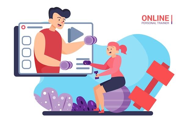Entraîneur personnel en ligne