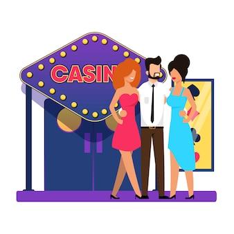 Entrée principale du casino, appartement de dessin animé.