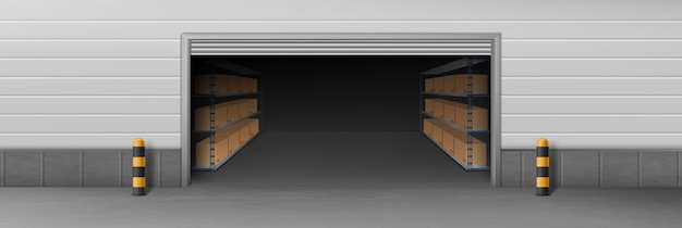 Entrepôt de l'entreprise de livraison, entrepôt libre-service