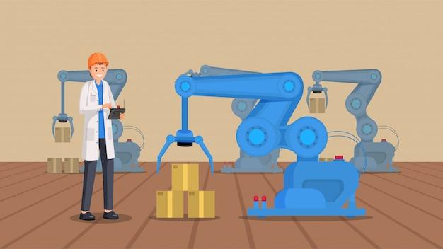 Entrepôt robotique plat
