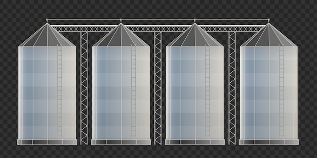 Entrepôt de silo agricole, élévateur à grain.