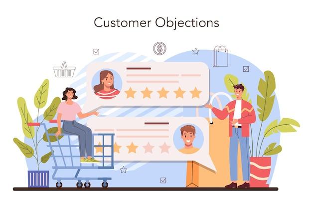 Entrepreneur de concept de présentation de produit présentant un nouveau produit