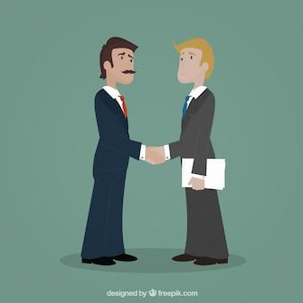 Les entrepreneurs se serrant la main