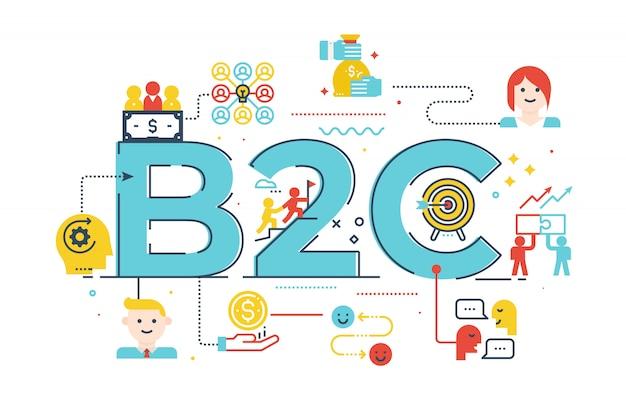 Entreprise b2c au mot client