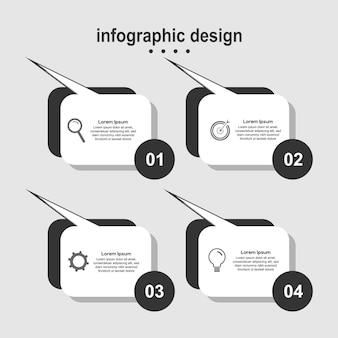 Entreprise de conception moderne de conception infographique simple