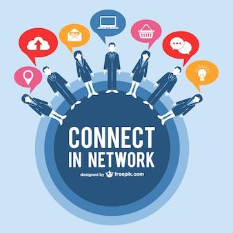 Entreprise dans le vecteur de réseau