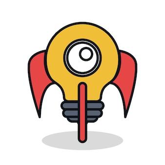 Entreprise démarrage des icônes plats vector illustration design