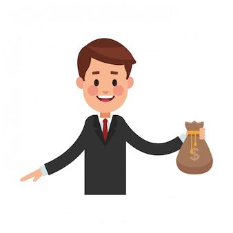 Entreprise d'économie d'argent dessin animé