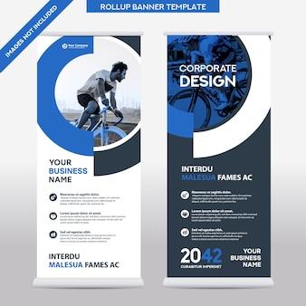 Entreprise de fond de ville roll up design template.flag banner design.