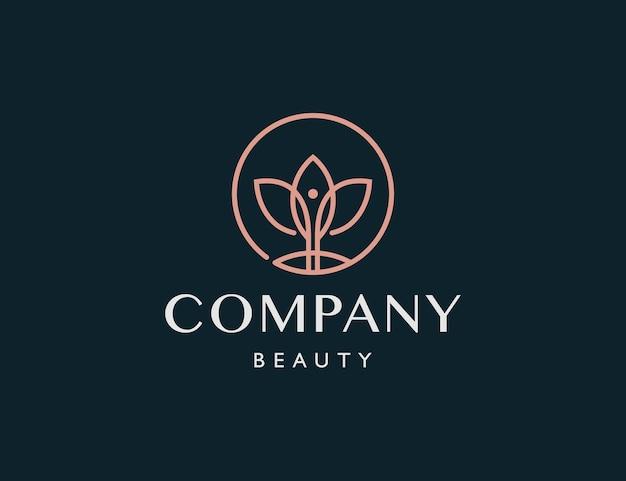 Entreprise de logo de beauté de fleur de luxe