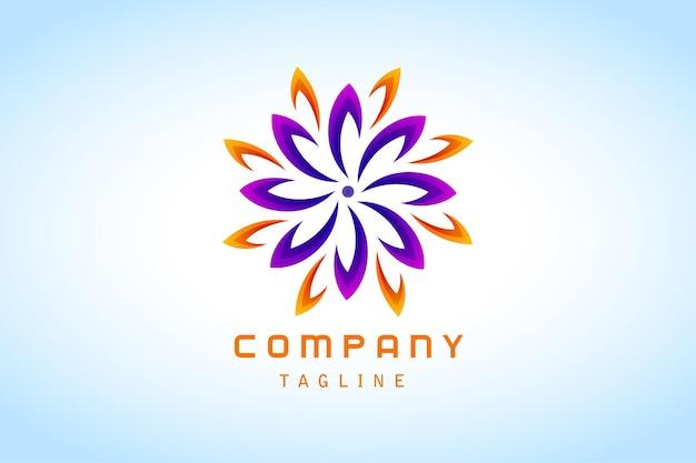Entreprise logo dégradé abstrait orange violet