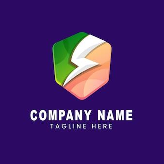 Entreprise de logo de gradient d'énergie de bouclier