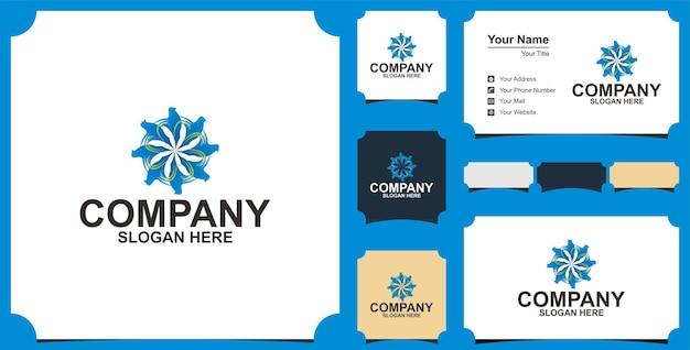 Entreprise de logo de mandala d'oiseau