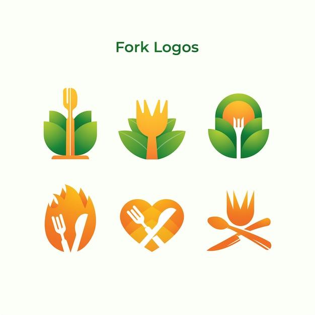 Entreprise de logos de fourche