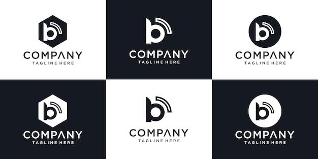 Entreprise de modèle de conception de logo d'icône de lettre b