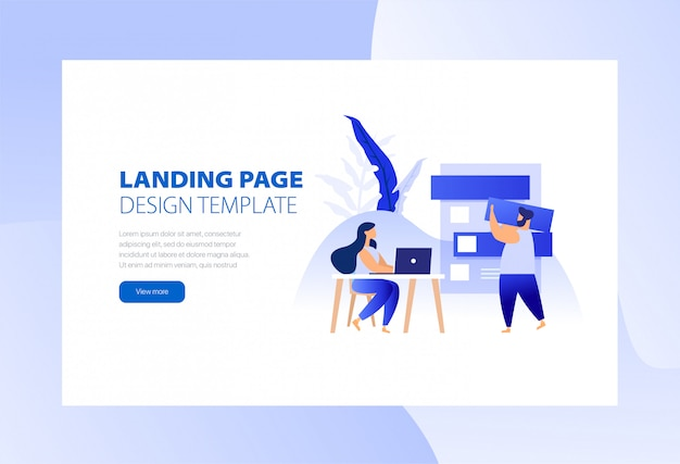 Entreprise de modèle de landing page