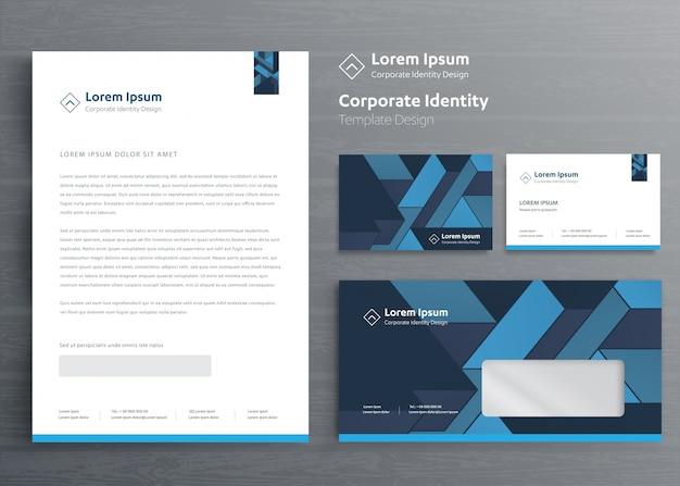 Entreprise de papeterie classique corporate identity