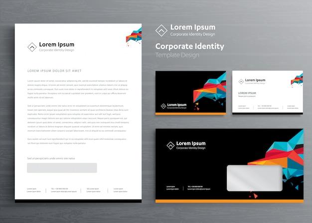 Entreprise de papeterie classique modèle de conception d'identité d'entreprise