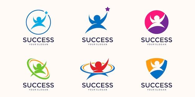 Entreprise de personnes de logo de succès d'étoile
