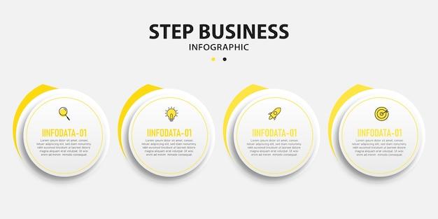 Entreprise de présentation informations circulaires données étapes info conception de modèle graphique