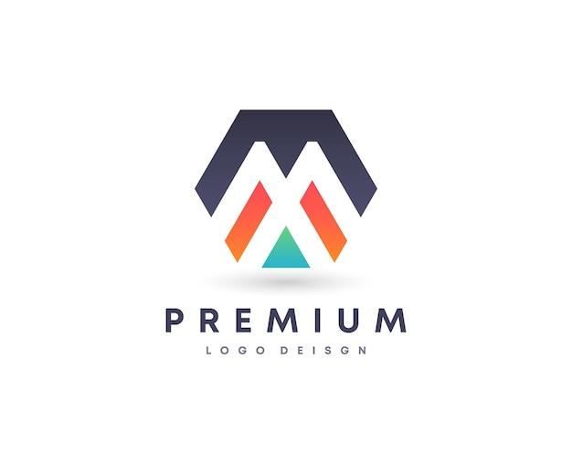 Entreprise de propriété à la maison attrayante colorée initiale lettre m symbole de conception de logo vectoriel pour votre marque