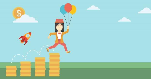 Entreprise prospère démarre illustration vectorielle.