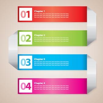 Entreprise de rayures modernes avec diagramme d'escalier coloré et figures vector illustration