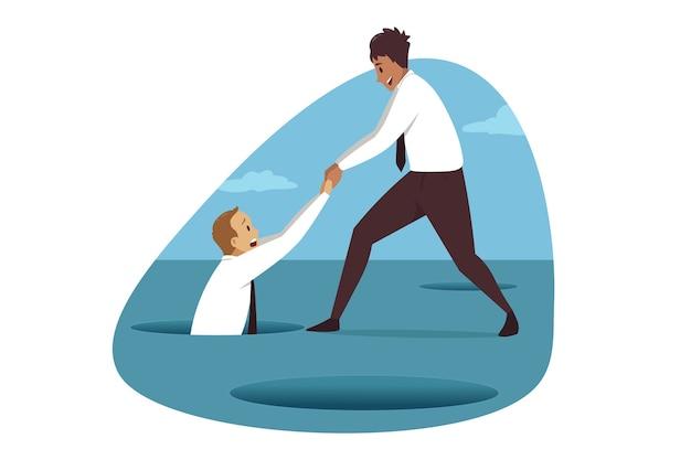 Entreprise, sauvetage de faillite, partenariat.