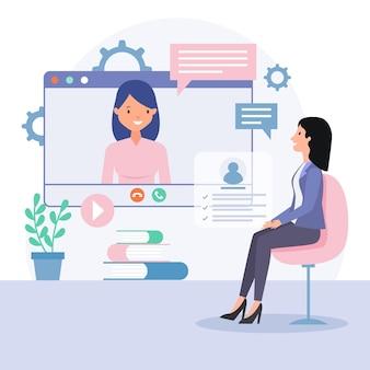 Entretien d'embauche en ligne